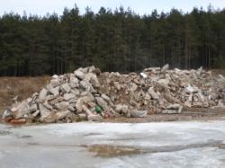 Erd- und Steindeponie Pollanten Betonabbruchmaterial zur Aufbereitung