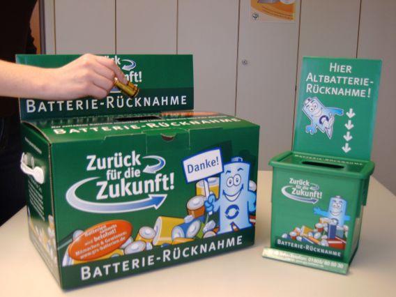 Grüne Batterienbox