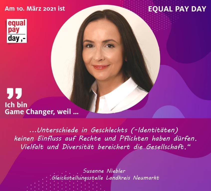 Mitmachaktion Equal Pay Day Susanne Niebler, Gleichstellungsstelle Landkreis Neumarkt