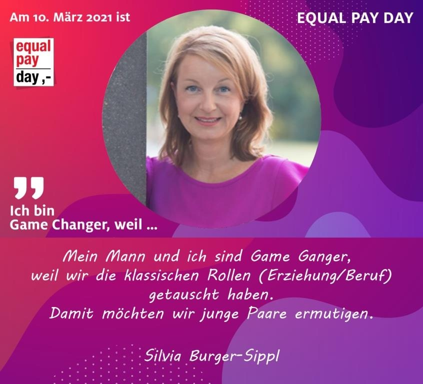 Mitmachaktion Equal Pay Day Silvia Burger-Sippl