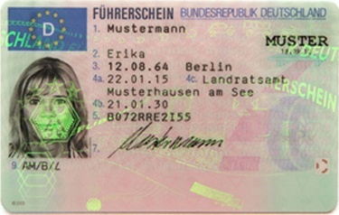 EU-Führerschein Vorderseite