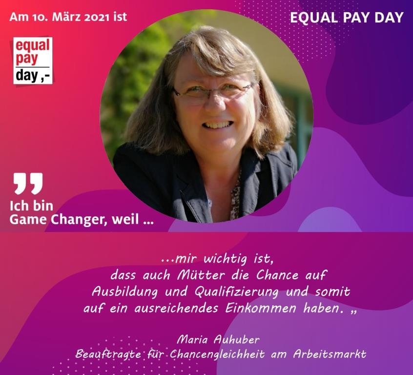 Mitmachaktion Equal Pay Day Maria Auhuber Beauftrage für Chancengleichheit am Arbeitsmarkt