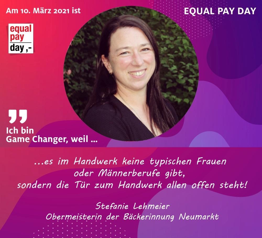 Mitmachaktion Equal Pay Day Stefanie Lehmeier, Obermeiterin der Bäckerinnung Neumarkt